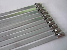 Metal Cable Ties 350mm 10 pcs stahlbinder Steel Tape MANIFOLD HEAT WRAP by