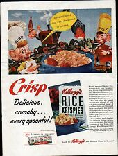 1942 KELLOGGS RICE KRISPIES  AD-- SNAP  CRACKLE POP