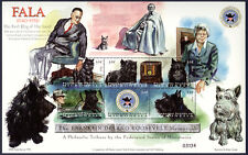 SCOTTISH TERRIER Scottie Dog Art Postage Stamp Souvenir Sheet F D Roosevelt 1998
