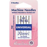 75/11 SIZE :  Universal Machine Needles: Fine/Medium - HEMLINE - H100.75