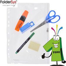 FolderSys A4 Zip-hülle Zipbeutel Sammelhülle Kleinkrambeutel transparent