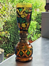 More details for  vintage hong kong small painted glass oil lamp