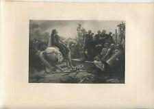 ANTIQUE ROME CAESAR VERCINGETORIX GALLIC GAUL AVERNE ARABIAN HORSE WAR ART PRINT
