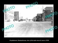 OLD LARGE HISTORIC PHOTO OF LLOYDMINSTER SASKATCHEWAN, MAIN St & STORES c1930