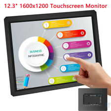"New Touchscreen 12.3"" 4:3 Portable Monitor IPS 1600x1200 DVI VGA for HDMI Input"