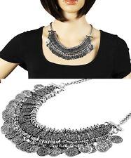 Halskette Modeschmuckkette silbern 45cm arabisch Orient Bauchtanz