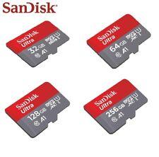 Sandisk Ultra 32GB 64GB 128GB 256GB MicroSD SDXC Memory Card A1 Class 10
