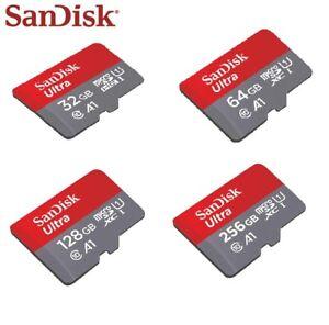 Sandisk Ultra 32GB 64GB 128GB 256GB MicroSD SDXC Class 10 Memory Card A1 120MB/S