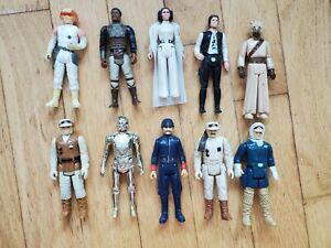 Vintage Star Wars Lot of 10 figures 1977-1980
