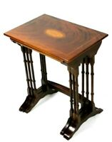 Antique Victorian Mahogany and Inlaid Nest of Three Tables, 19th Century [5640]