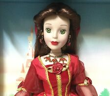 "Disney Princess Belle Keepsake Porcelain Doll 15 1/2"" Holiday jewels edit. 2013"