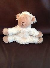 "Marks And Spencer Cream Lamb Sheep 6"" Teddy Baby comforter soft toy M&S"