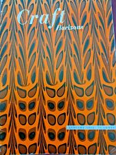 Craft Horizons Jan 1952 Batik Weaving Flax Marbling Paper Silver Weaving Stole