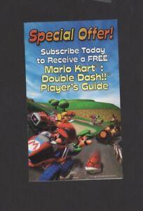 Mario Kart Double Dash Nintendo Gamecube Power Ad INSERT ONLY Authentic