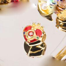 Sailor Moon 20th Anniversary Pendant Charm Bead 925 Silver + 18K Heart Gift Toy