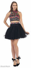 NEW PROM SHORT DRESS SEMI FORMAL TWO PIECE DESIGNER COCKTAIL SWEET 16 HOMECOMING