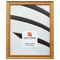 "Craig Frames Stratton, .75"" Queen Ann Gold Wood Picture Frame, Custom Sizes"