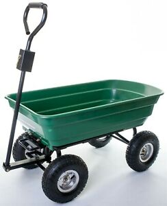 Large tipper Garden Cart with Strong Steel Frame and Polyethylene Body  OT1012W2