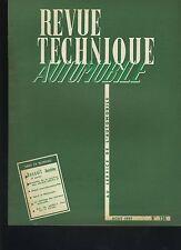 (C3A)REVUE TECHNIQUE AUTOMOBILE RENAULT DAUPHINE / VELAM ISETTA 57