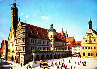 Rothenburg ob der Tauber , Rathaus ; Ansichtskarte 1976 gel.