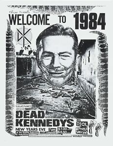 """DEAD KENNEDYS Welcome to 1984 Starlite ballroom concert repro poster huge 30x40"""""""