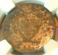 1832 BEL Switzerland Batzen Vaud NCG MS 64 Nice Toning!  (#232)