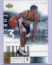 Earl Watson rc 2001-02 Upper Deck Flight Team Gold #25/50 His Jersey number UCLA