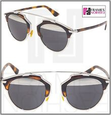 CHRISTIAN DIOR SO REAL Silver Havana Metal Mirrored Sunglasses SOREAL Unisex