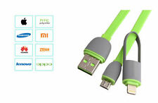 Micro USB + Lightning Charger Data Sync Cable 2 IN 1 For iPhone & Android Phone