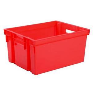 6 BAC PLASTIQUE  caisse déménagement 30 litre EDA