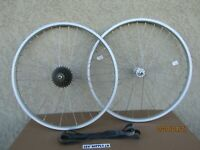 NEW BICYCLE 26'' X 1.75  ALUMINUM WHEEL SET 6 SPEED FOR MTB, MONGOOSE, TRACK