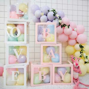 4Pcs/Set Transparent Balloon Box Wedding Love Baby Valentine's Day Decor AU