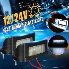 2pcs 12/24V LED Number Licence Plate Light Rear Tail Lamp Truck Trailer Lorry UK