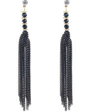 1 pair Wholesal Black Crystal Rhinestone  Ear Drop Dangle Stud long  Earrings 26