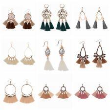 Fashion Women Earrings Bohemian Tassel Cotton Vintage Hook Drop Earrings Jewelry