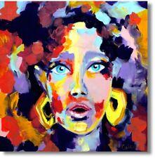 """Kunstdruck Moderne Kunst Abstrakte Malerei Portrait """"Frau"""" Art. Nr. 769"""