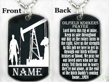 OILFIELD WORKERS PRAYER-Dog tag Necklace/Key chain + FREE ENGRAVING