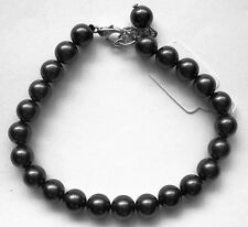 BLACK South Sea Pearl BRACELET with Sterling Silver Clasp....Great Gift....NEW
