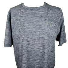 Under Armour Heatgear Loose Fit Mens 2Xl Grey Shirt Athletic Workout Exercise