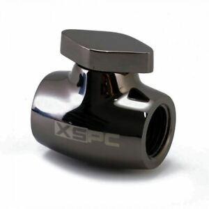 XSPC G1/4 Ball Valve - Black Chrome