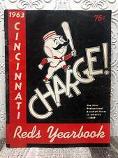 1963 Cincinnati Reds Yearbook Vintage Memorabilia Signed Autograph Pete Rose