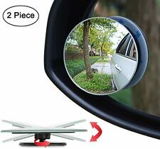 L+ R 360 Degree Wide Angle Round Convex Blind Spot Mirror for Parking Rear View