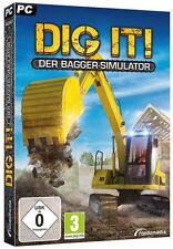PC Computer Spiel * DIG IT!: Der Bagger Simulator * Simulation Bau Kran Fahzeug