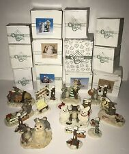 Charming Tails Huge Lot of 15 Fitz & Floyd Christmas Holiday Figurines Snowman