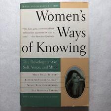 Womens Ways Of Knowing Paperback Psychology Self Improvement Development