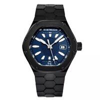 Dietrich Men's Time Companion Blue Dial Hexagon Automatic Watch W/ Open Box
