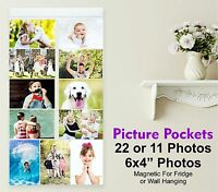 Picture Pockets Hanging Photo Gallery Display 11 Pockets Frame For Fridge Magnet