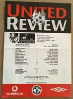 MANCHESTER UNITED YOUTH V BARNSLEY YOUTH CUP 2001/02