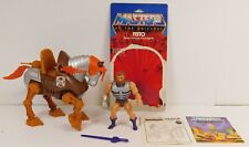 MASTERS OF THE UNIVERSE STRIDOR & FISTO COMPLETE W/CARD BACK AND INSTRUCTIONS