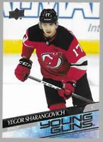 2020-21 Upper Deck Young Guns Yegor Sharangovich Rookie # 489 NM/MT RC